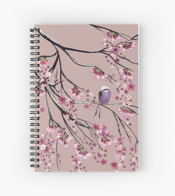 Cherry blossom birdy by Emma Lewis
