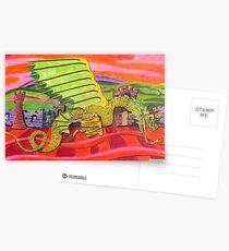 219 - THE BRIGHTON DRAGON - DAVE EDWARDS - COLOURED PENCILS - 2008 Postcards