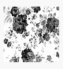 ROSES GRAY BLACK Photographic Print