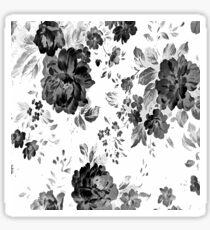 ROSES GRAY BLACK Sticker