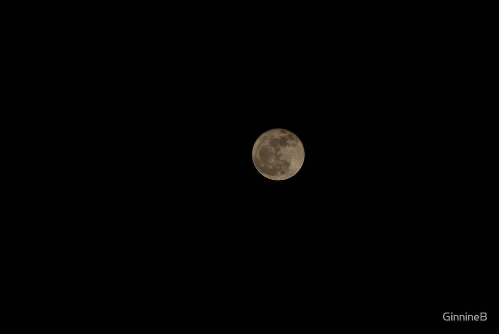 Full moon by GinnineB