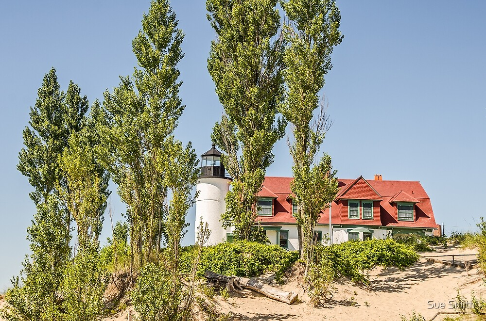 Point Betsie Lighthouse on Lake Michigan by Sue Smith