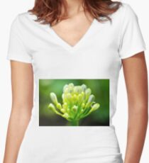 Tiny New Buds In Spring Women's Fitted V-Neck T-Shirt