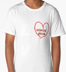 1st Wedding Anniversary Shirt Marriage Gift For Couples Long T-Shirt