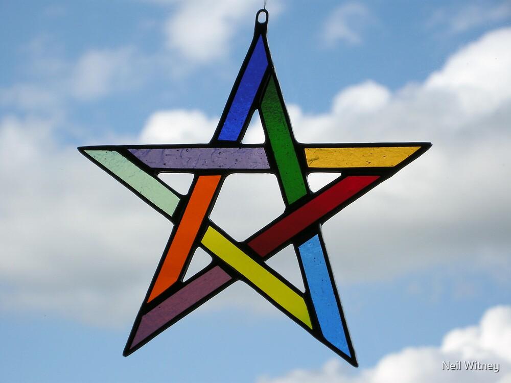 Multi-Coloured Pentagram by Neil Witney