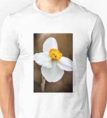 White Daffodil Flower T-Shirt