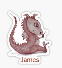 James with Red Dragon Sticker
