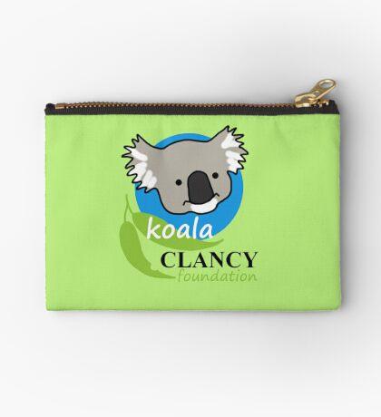 Koala Clancy Foundation - large logo Zipper Pouch