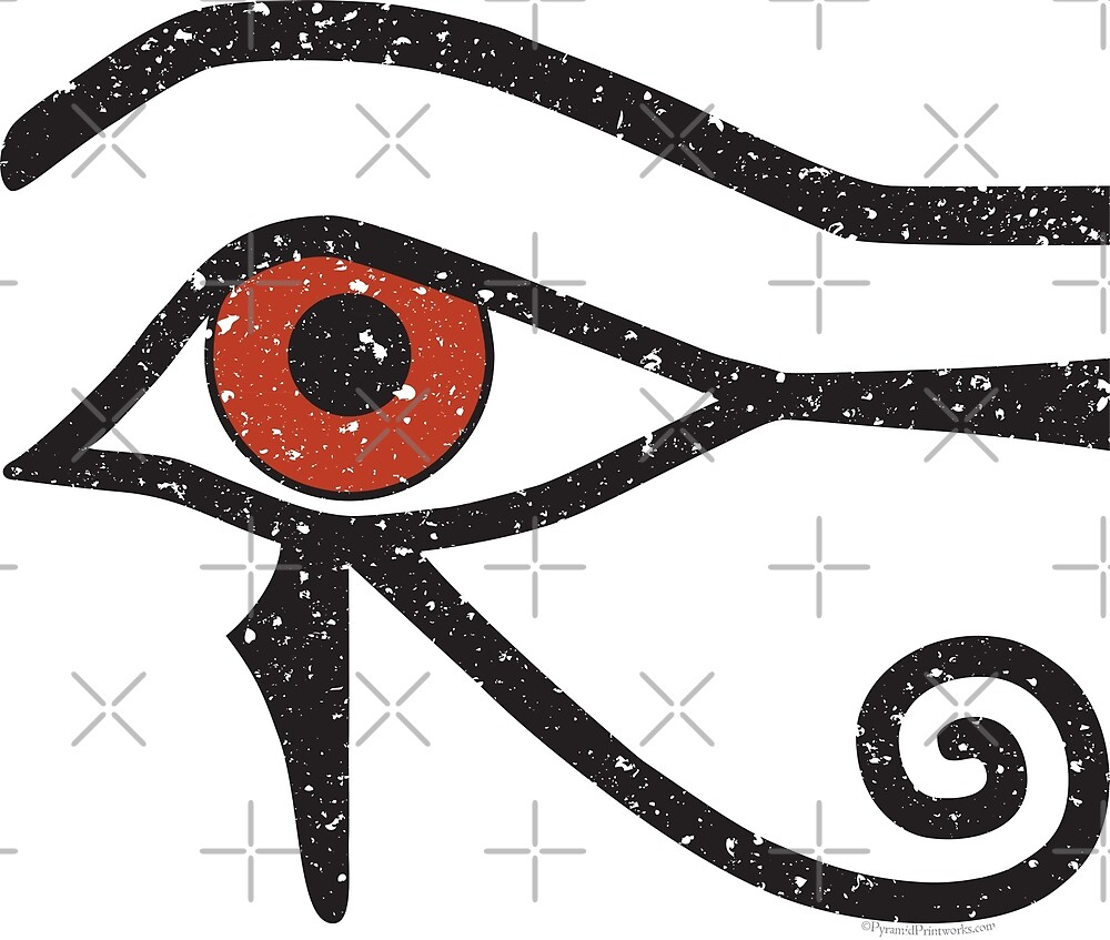 Eye Of Horus Ancient Egyptian Symbol Of Protection On White By