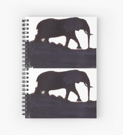 Lodge décor  - Mix & Match Throw Pillow - Elephants Spiral Notebook
