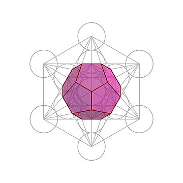 Dodecahedron and Metatron's Cube  by JohnGirvan