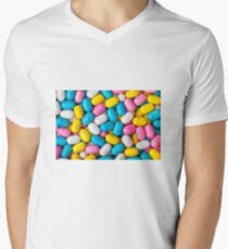 Candy Easter Eggs Men's V-Neck T-Shirt