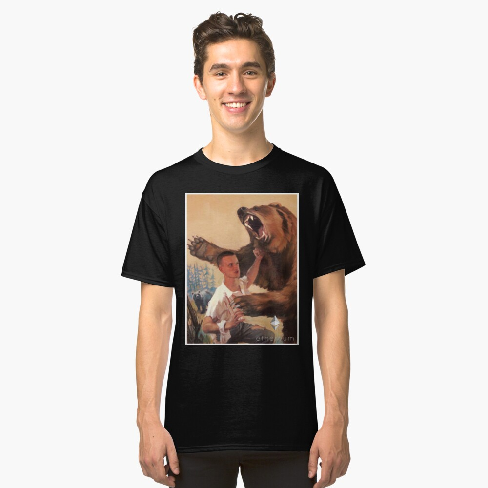 Vitalik Fighting Bear Classic T-Shirt Front