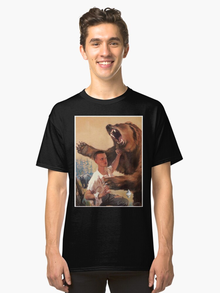 Vitalik Fighting Bear Classic T-Shirt Front