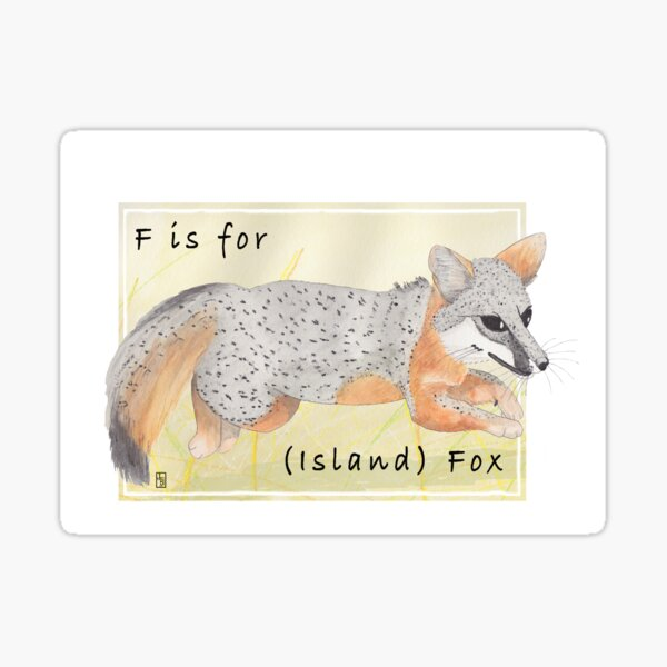 F is for (Island) Fox Sticker