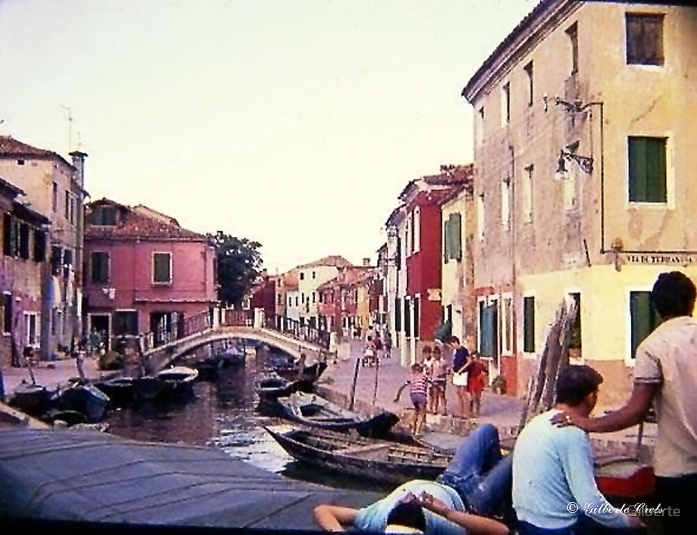 Italy - Colourful Burano by Gilberte