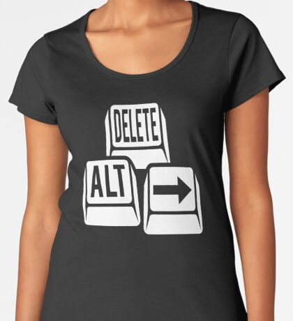 Delete Alt Right Women's Premium T-Shirt