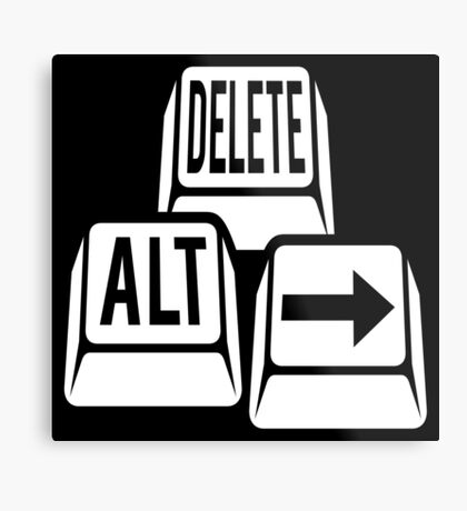Delete Alt Right Metal Print