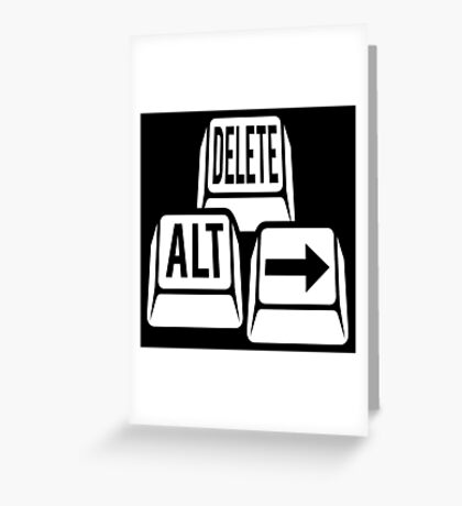 Delete Alt Right Greeting Card