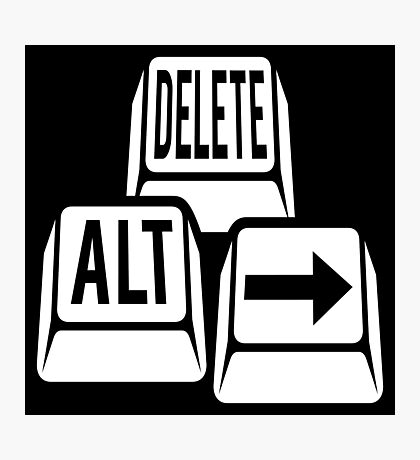 Delete Alt Right Photographic Print