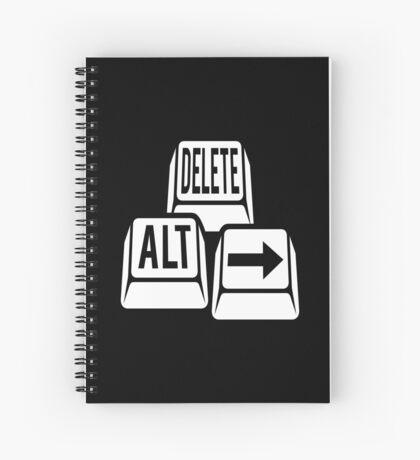 Delete Alt Right Spiral Notebook