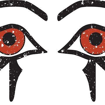 Double Eye of Horus Ancient Egyptian Symbol of Protection on White by PyramidPrintWrx