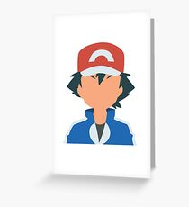 Ash Ketchum Greeting Card