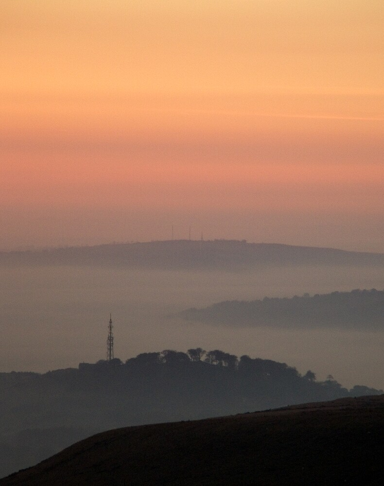 Sunset at Peaknaze by Plynlimon