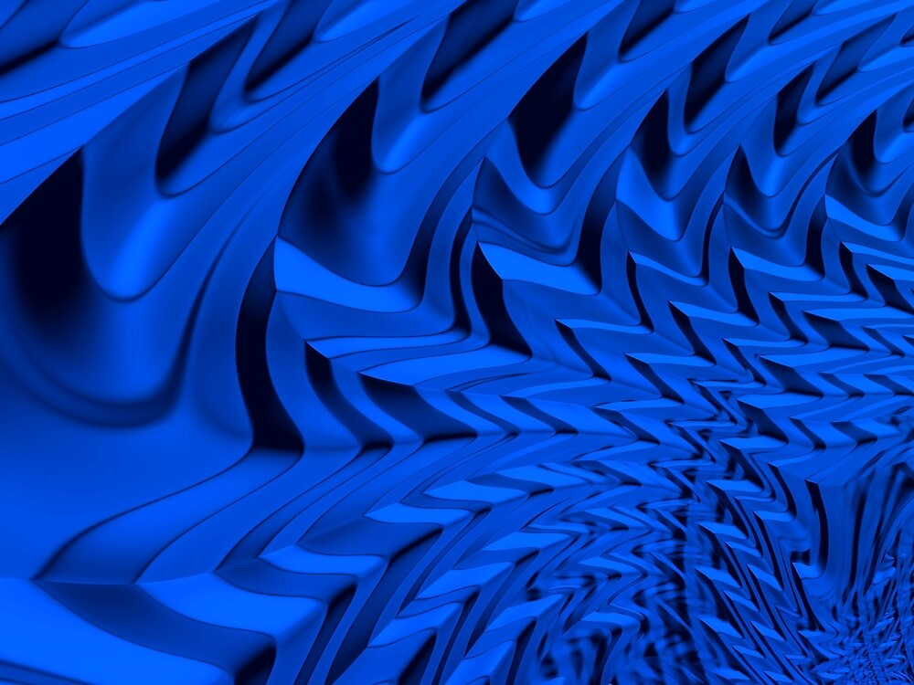 Summer Blues Abstract Blue Fractal Art by Vicky Brago-Mitchell