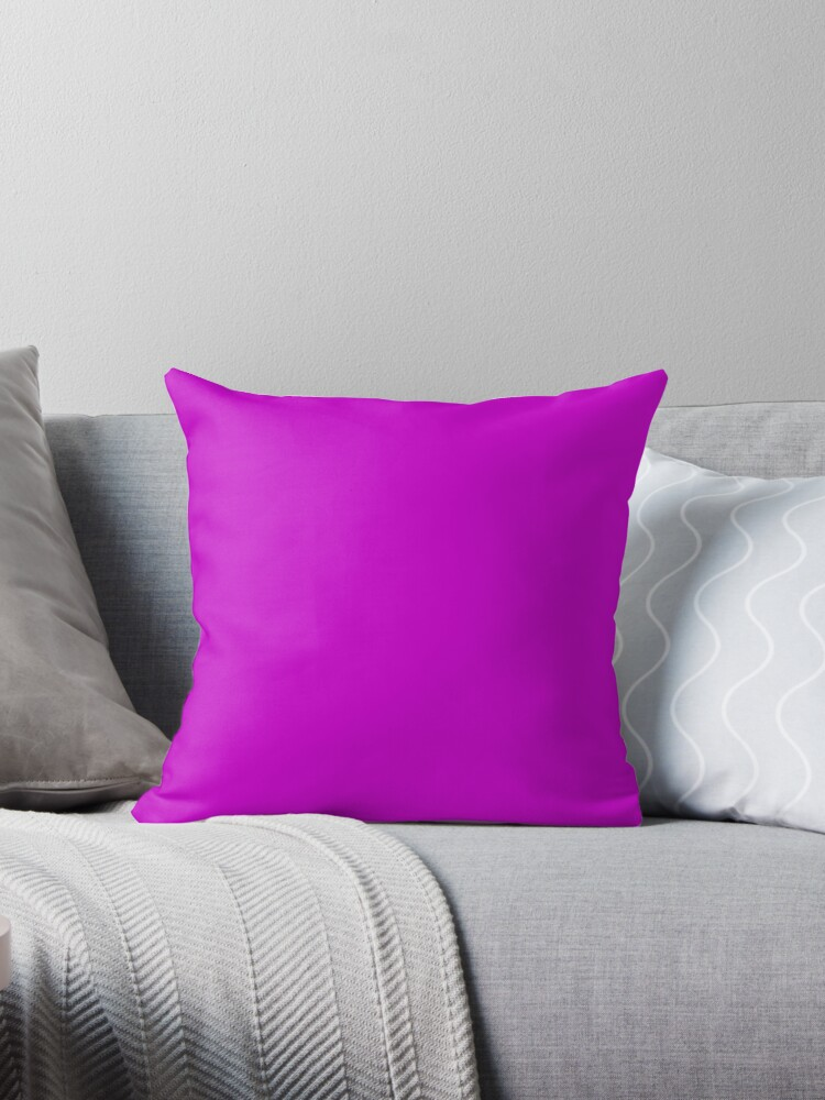 Solid Colour | Deep Magenta| Purple by ozcushions