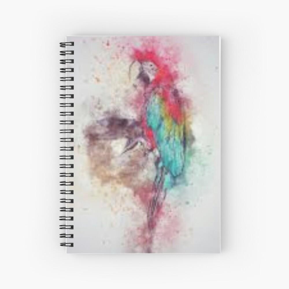 Fuzzy Parrot Spiral Notebook
