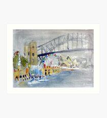 Luna Park from Lavendar Bay Art Print