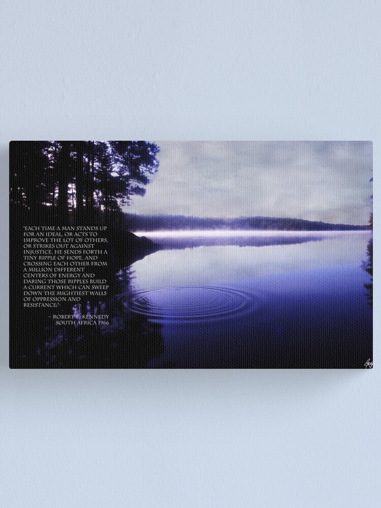 Alternate view of Ripple of Hope RFK Quote Print Canvas Print
