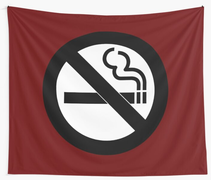 No Smoking Symbol Wall Tapestries By Symbolical Redbubble