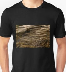 Abstract patterns in nature - water waves during sunset time T-Shirt