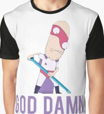 "Rick and Morty - Noob Noob ""God Damn"" Graphic T-Shirt"