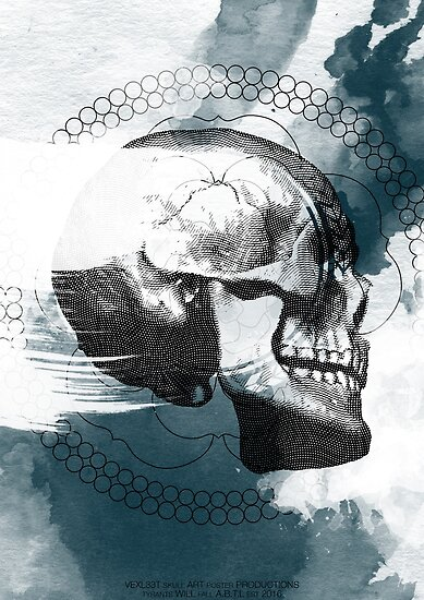 Abstract Skull Poster by Vexl33t