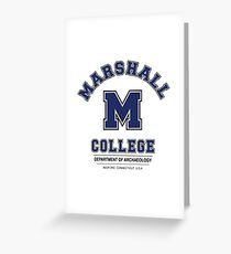 Indiana Jones - Marshall College Archaeology Department Variant Greeting Card