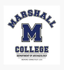 Indiana Jones - Marshall College Archaeology Department Variant Photographic Print
