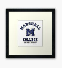 Indiana Jones - Marshall College Archaeology Department Distressed Variant  Framed Print