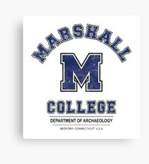 Indiana Jones - Marshall College Archaeology Department Distressed Variant  Canvas Print