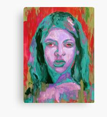 Colorful painting portrait of girl  Canvas Print