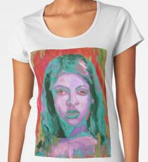 Colorful painting portrait of girl  Women's Premium T-Shirt