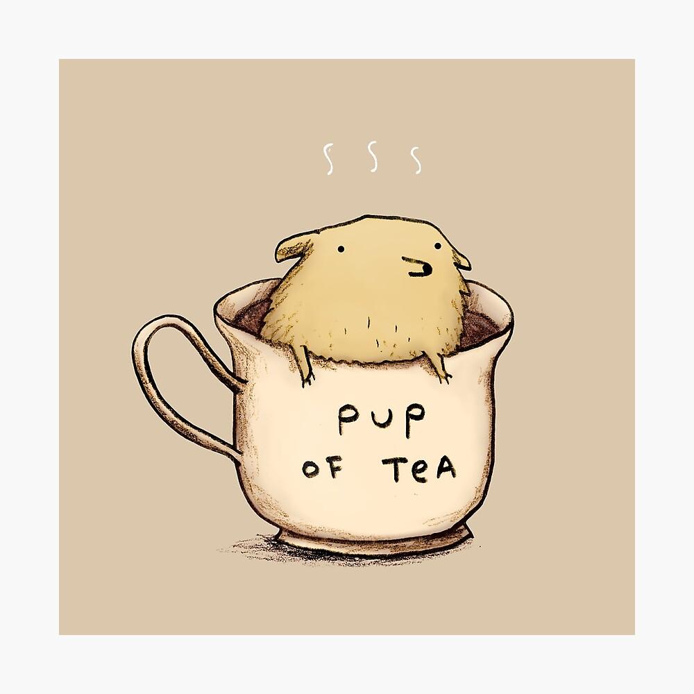 Pup of Tea Lámina fotográfica