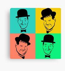 Laurel and Hardy Pop Art Tribute Canvas Print