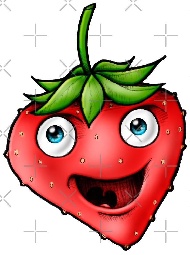 Strawberry healthy vegan by Delpieroo
