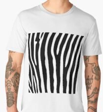 Black and white zebra striped background Men's Premium T-Shirt