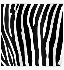 Black and white zebra striped background Poster