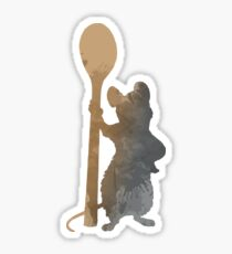 Rat with spoon Inspired Silhouette Sticker