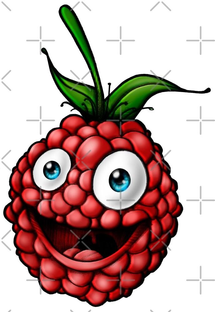 Raspberry healthy vegan by Delpieroo